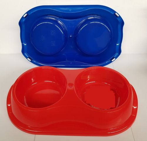 Large Plastic Bowl 2 Dish 300x185x55mm