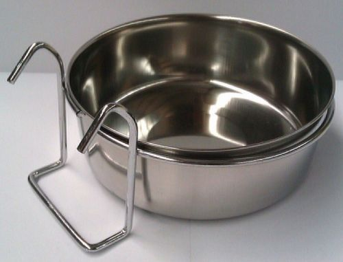 Metal Coop Dishes with Hook on Ring