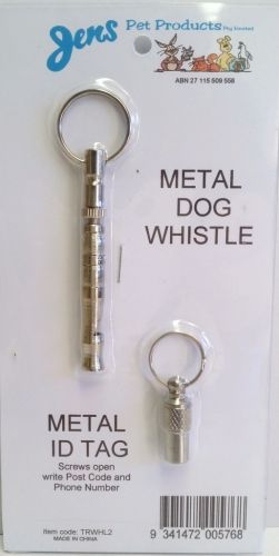 Metal Whistle & ID Tag
