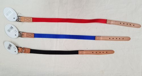 Nylon and Leather Collars