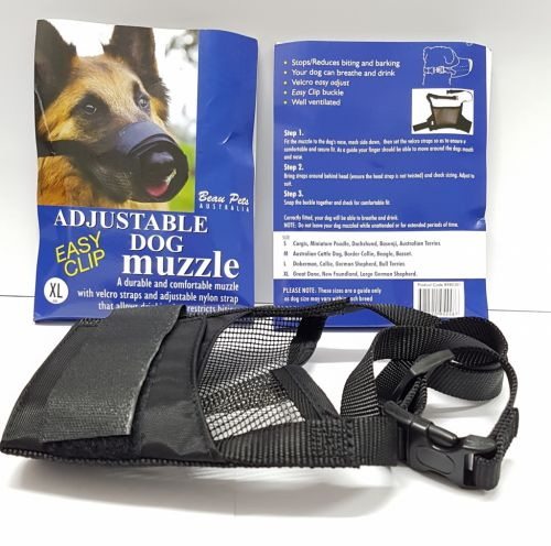 Dog Muzzle Nylon with Velcro adjustable