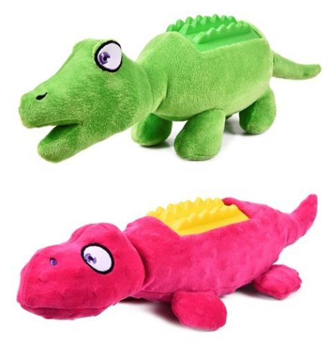 Plush Dinosaur Squeaky Dog Toy 45cm