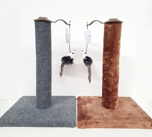 Cat Scratch Post with Dangle Rat