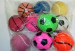 Rubber Sponge Sports Ball 10 pack